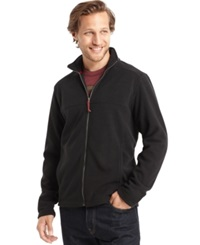 G.H. Bass And Co. Full Zip Mock Neck Arctic Fleece Jacket Rooibos Tea