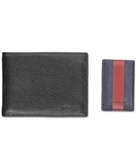 Tommy Hilfiger Men's Maddox Wallet And Money Clip Black