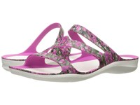 Crocs Swiftwater Graphic Sandal Pink Floral Women's Sandals