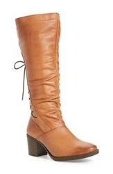 Bos. And Co. Women's 'Fyllis' Waterproof Boot Cognac Vintage Monza Leather
