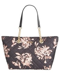 Calvin Klein Dressy Nylon Quilted Tote Floral Print