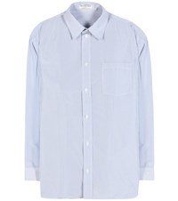 Balenciaga Striped Shirt Blue
