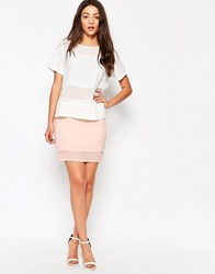 Neon Rose Double Layer Mini Skirt Pink