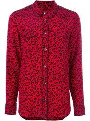 Coach Leopard Print Shirt Red