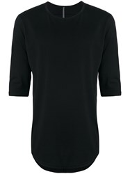 Attachment Half Sleeve T Shirt Black