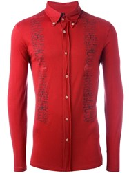 Jean Paul Gaultier Vintage Hand Writing Printed Shirt Red