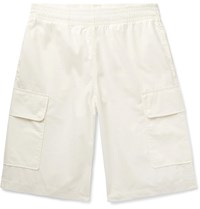 Our Legacy Rest Cotton Drawstring Cargo Shorts Off White