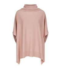 Harrods Of London Roll Neck Poncho Female Pink