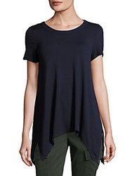 Chelsea And Theodore Solid Asymmetric Hem Top Night Life