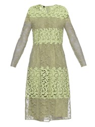 Burberry Long Sleeved Floral Lace And Macrame Dress