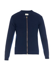Oliver Spencer Blouson Zip Through Wool Cardigan