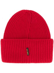 Golden Goose Deluxe Brand George Beanie Unisex Wool Red