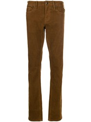 Frame Straight Leg Trousers Brown