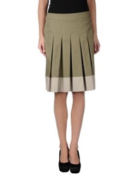 Cappellini Knee Length Skirts Military Green