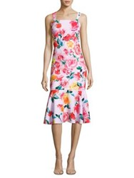 Laundry By Shelli Segal Floral Print Trumpet Dress Cherry Tomato