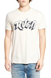 Rvca Men's Psych Script Graphic T Shirt