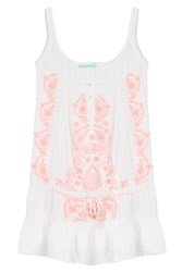 Melissa Odabash Embroidered Tunic Dress White