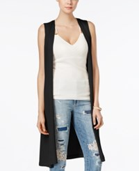 Guess Long Belted Duster Vest Jet Black