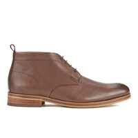 H Shoes By Hudson Men's Lenin Leather Desert Boots Brown