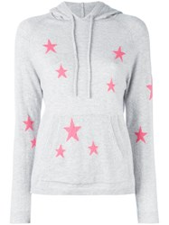 Chinti And Parker Star Printed Hooded Sweater Women Cashmere M Grey