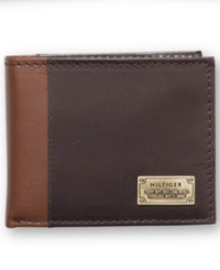 Tommy Hilfiger Melton Passcase Billfold Wallet Brown