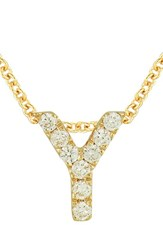 Bony Levy Women's Pave Diamond Initial Pendant Necklace Nordstrom Exclusive Yellow Gold Y