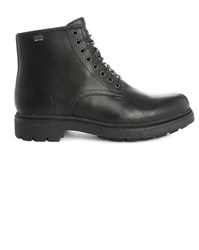 Camper Black Vivram Hardwood Laced Boots With Side Zip And Gore Tex Sole