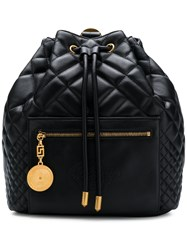 Versace Quilted Backpack Black