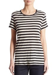 Proenza Schouler Baggy Striped Tie Back Tee Black White