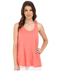 Michael Stars Luxe Slub Racerback Tank Top Coral Sun Women's Sleeveless Red