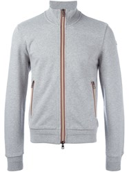 Moncler Classic Zip Up Sweatshirt Grey