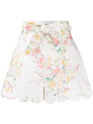 Zimmermann Floral Fitted Shorts 60