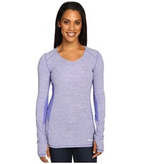 Marmot Lateral Long Sleeve Royal Night Women's Clothing Blue
