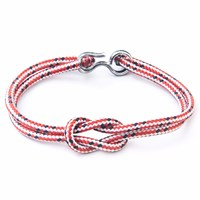 Anchor And Crew Red Dash Foyle Rope Bracelet