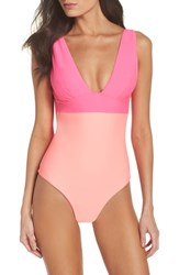 Ted Baker London Contrast One Piece Swimsuit