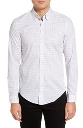 Hugo Men's Boss Rodney Extra Trim Fit Print Sport Shirt