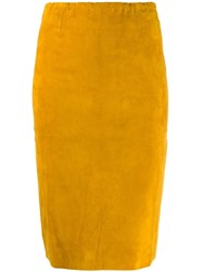 Stouls Gilda Fitted Skirt Yellow