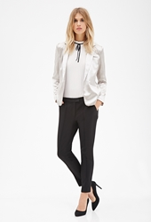 Forever 21 Topstitched Skinny Trousers