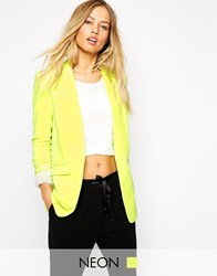 Supertrash Tailored Blazer In Acid Yellow Yellow