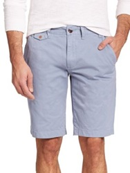 Barbour Neuston Cotton Shorts Powder Blue