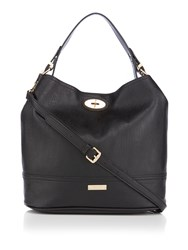 Juno Black Bucket Bag Black