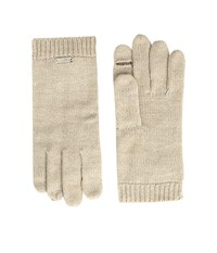 Calvin Klein Keyhole Gloves Heathered Almond Extreme Cold Weather Gloves Beige