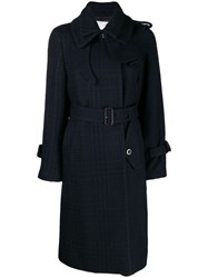 Sacai Double Collar Coat Blue