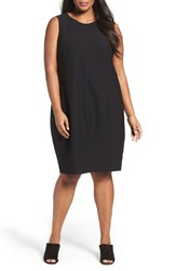 Eileen Fisher Plus Size Women's Washable Stretch Crepe Shift Dress