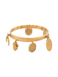 Dolce And Gabbana Multiple Charms Bracelet Gold
