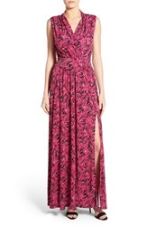 Women's Michael Michael Kors Print Jersey Side Slit Maxi Dress