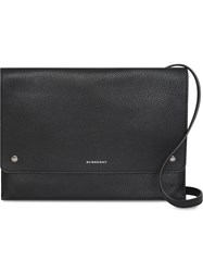 Burberry Leather Pouch With Detachable Strap Black