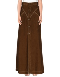 Dsquared2 Long Skirts Khaki