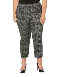 Rafaella Plus Plus Cross Hatched Jacquard Pants