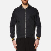 Mcq By Alexander Mcqueen Men's Hooded Blouson Jacket Darkest Black
